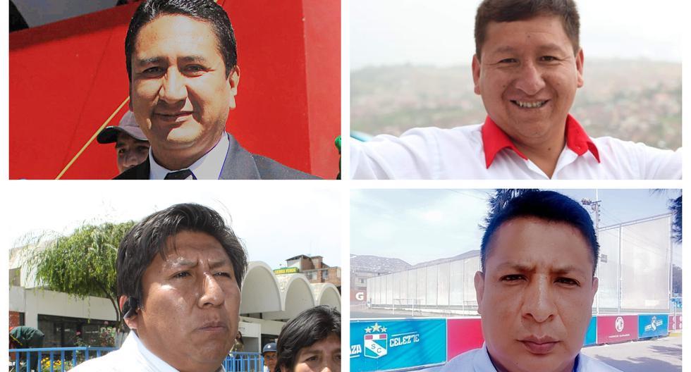 Vladimir Cerrón, Guido Bellido, Valdemar Cerrón y Richard Rojas son cuatro de los 21 investigados por presunto lavado de activos (Fotos: Grupo El Comercio)