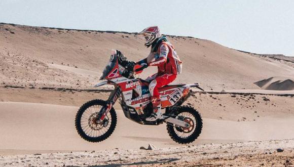 César Pardo es debutante en el rally Dakar. (Foto: Itea)