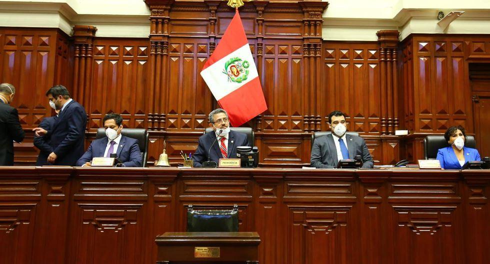 Manuel Merino no votó, sus tres vicepresidentes sí lo hicieron. (Foto: Congreso)