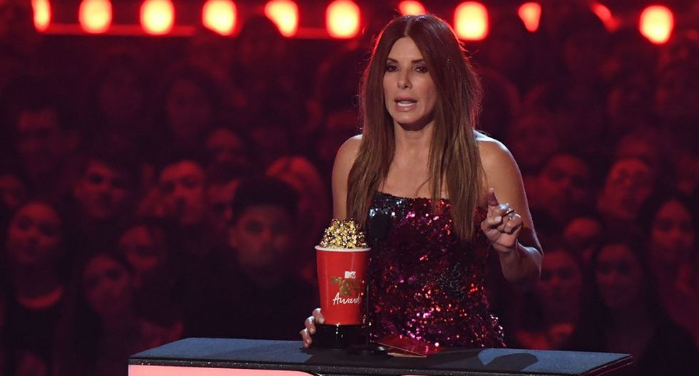 Sandra Bullock en los MTV Movie & TV Awards 2019. (Foto: Agencias)