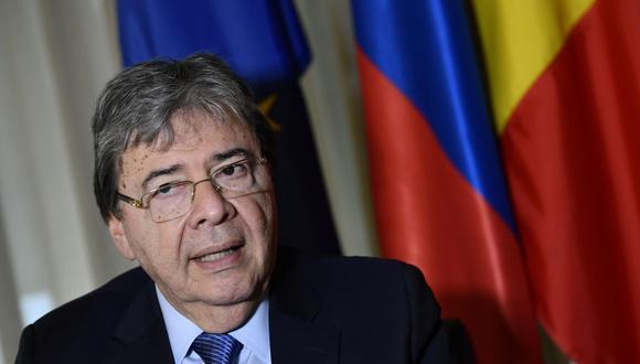 El ministro de Defensa de Colombia, Carlos Holmes Trujillo, es visto en Bruselas el 28 de octubre de 2019. (John THYS / AFP).