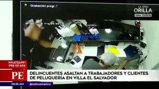 Villa El Salvador: cámaras captan asalto dentro de una peluquería