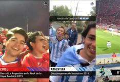Snapchat vibró al ritmo del partido Chile vs. Argentina [FOTOS]