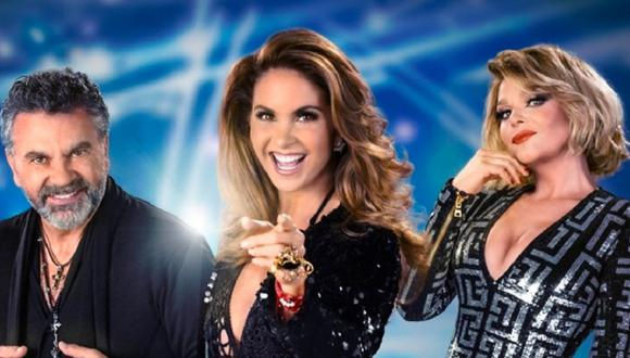 """Manuel Mijares, Lucero e Itatí Cantoral son los jueces de """"El retador"""" (Foto: Televisa)"""