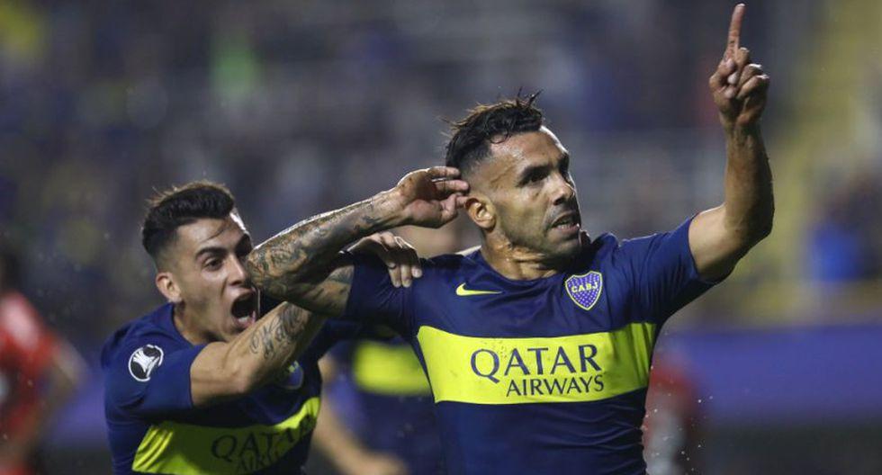 Carlos Tévez fue el héroe de Boca Juniors en su duelo frente a Atlético Paranaense en la jornada 6 de la Copa Libertadores. El 'Apache' se codea con los máximos goleadores xeneizes en la historia del torneo (Foto: AFP)