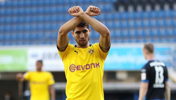 Hakimi cumple su segunda temporada en el Borussia Dortmund. (Foto: AFP)