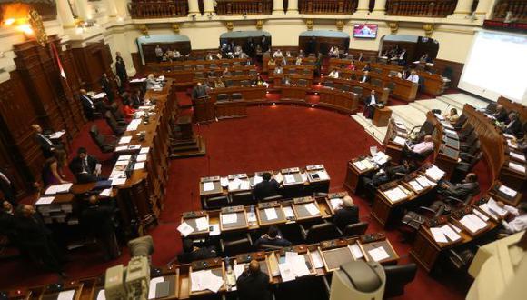Pleno del Congreso. (Foto archivo El Comercio)