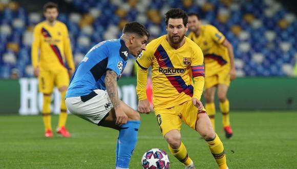 Barcelona y Napoli empataron 1-1 en la ida en el San Paolo. (Foto: Agencias)