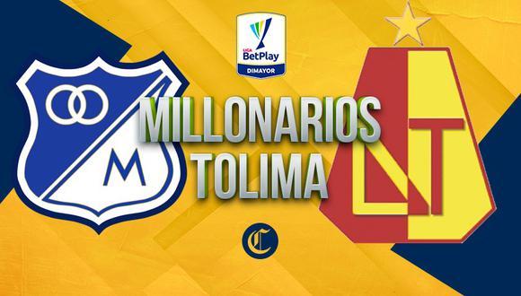 Millonarios enfrenta a Tolima en el Campín y buscará escalar a las primeras posiciones del campeonato | Foto: Diseño EC