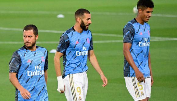 Varane recuperado, Hazard a medias: Real Madrid entrenó de cara al duelo frente al Alavés   Foto: AFP