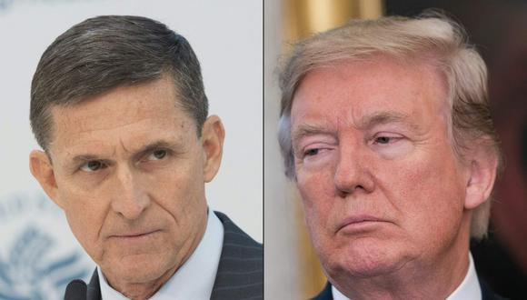 Donald Trump planea indultar a su exasesor de Seguridad Nacional Michael Flynn. (Fotos: CHRIS KLEPONIS Y NICHOLAS KAMM / AFP).