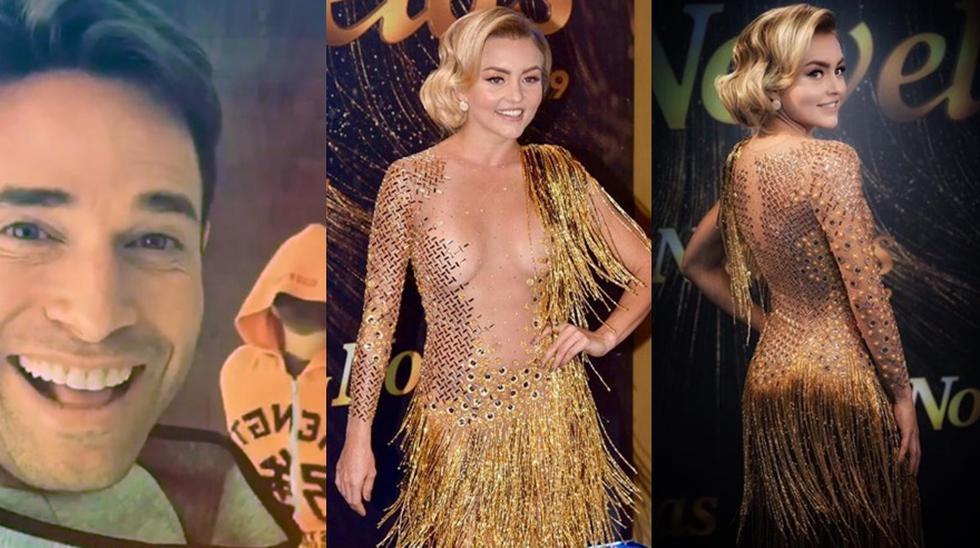 En los últimos Premios TVyNovelas, Angelina Boyer lució un vestido reversible, según ella misma confirmó tras el revuelo causado en redes sociales por un supuesto error suyo en la gala.