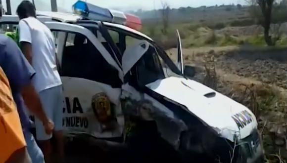 Uno de los policías está grave. (Foto: Captura/América Noticias)