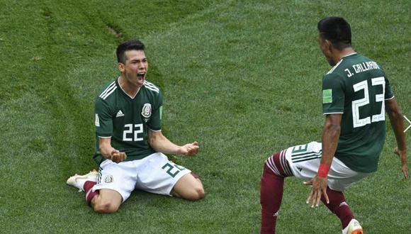 Hirving 'Chucky' Lozano convirtió frente a Alemania en el Mundial Rusia 2018 | Foto: AFP