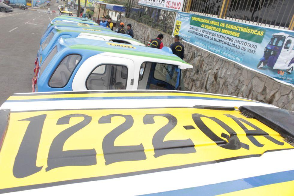 Mototaxis deben contar con el número de placa en el techo. (Foto: Difusión)