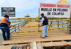 Piura: clausuran muelle El Toril de manera definitiva por peligro de colapso