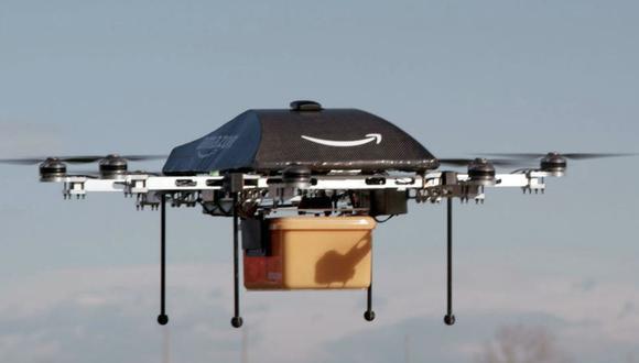 Amazon fue pionera en la experimentación de la entrega con drones y avanza con nuevas propuestas para agilizar el mercado. (Imagen: La Nación)