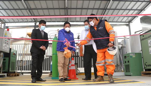 Cabe indicar que las dos plantas de oxígeno fueron donadas por la empresa minera Volcan. (Foto: Gore Pasco)