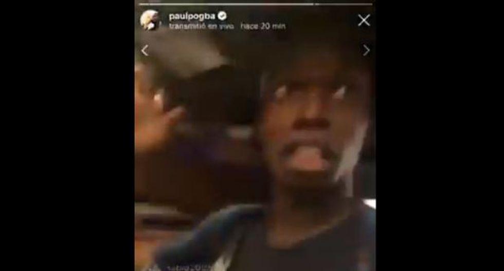 Paul Pogba trasmitió un video en vivo desde Instagram y saludó a todos sus seguidores mexicanos con un sombrero de mariachi (Foto: Captura Instagram)