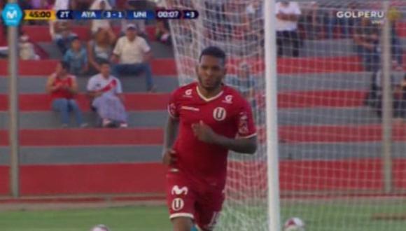 Alberto Quintero anotó el segundo gol de Universitario   Foto: captura
