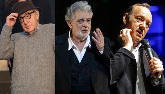 Woody Allen, Plácido Domingo y Harvey Weinstein: unidos por las denuncias por acoso y abuso sexual.