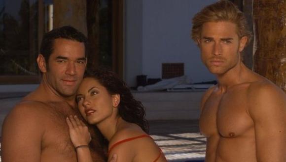 Eduardo Santamarina encarnó a Alejandro y Sebastián Rulli a Héctor en la versión de Rubí de 2004, con Bárbara Mori (Foto: Televisa)