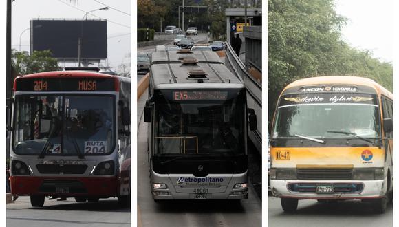 La ATU informó que los servicios de transporte tendrán un horario. (Foto: GEC)