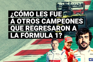 Conoce cómo les fue a otros campeones del mundo cuando regresaron a la Fórmula 1