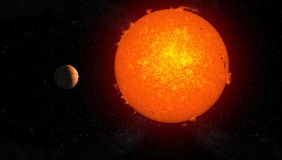 Representación artística del exoplaneta rocoso Próxima b orbitando su estrella, Próxima Centauri. (Foto: Gabriel Pérez Díaz, SMM/IAC)