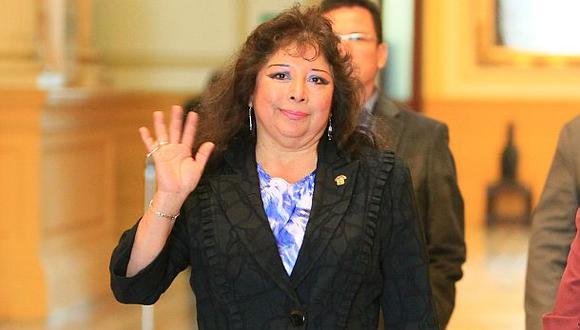 Celia Anicama renunció a la bancada de Gana Perú