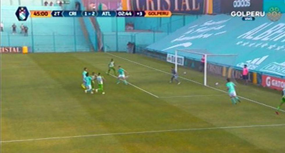 Vladimir Hernández y el 2-1 que sentenció a los celestes   Foto: captura