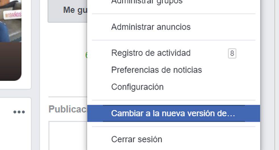 ¿No te ha llegado la notificación para cambiar el diseño de Facebook? Aquí lo puedes hacer rápido y fácil. (Foto: Facebook)