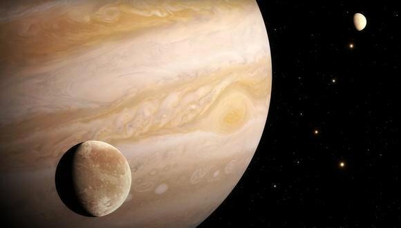 Representación artística de Ganímedes, luna de Júpiter. (Imagen: ESA)