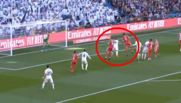 Real Madrid vs. Girona EN VIVO: Casemiro marcó golazo para el 1-0 del cuadro merengue por Liga | VIDEO. (Foto: Captura de pantalla)