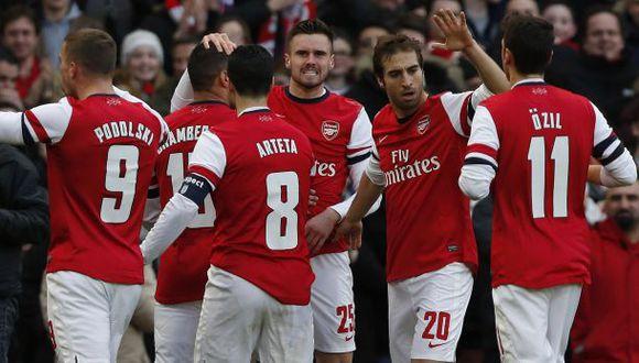 Arsenal le ganó 2-1 al Liverpool y lo eliminó de la Copa FA
