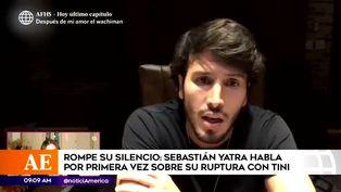 Sebastián Yatra habló por primera vez sobre su ruptura amorosa con Tini Stoessel
