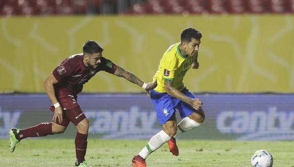 Brasil enfrentó a Venezuela en Sao Paulo por la fecha 3 de las Eliminatorias Qatar 2022 | Foto: AFP