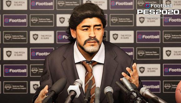 Diego Maradona en PES 2020. (Imagen: Konami)
