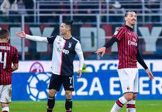 Con gol de Cristiano Ronaldo: Juventus igualó 1-1 ante Milan por la Copa Italia [VIDEO]