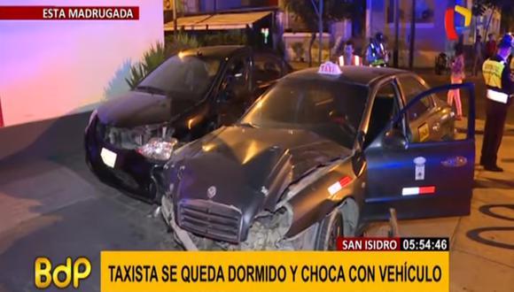 El accidente se reportó a las 11:54 p.m. del martes. (Foto captura: Panamericana)