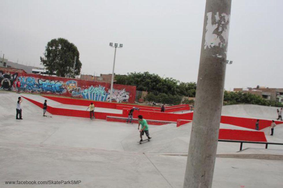 La adrenalina se vive a mil en el skate park del distrito. (Foto: Facebook Skate Park San Martin de Porres)