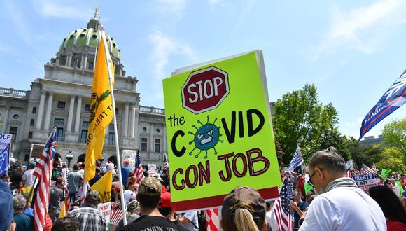 Protestas en Harrisburg, Pensilvania. (Foto: AFP)