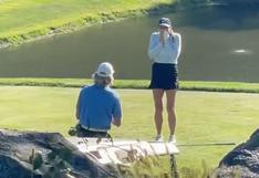 El partido de golf que se interrumpió en EE.UU. por una emotiva pedida de matrimonio