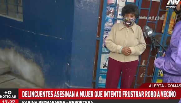 La madre de la víctima contó detalles de cómo ocurrió el asesinato de su hija. (ATV+)