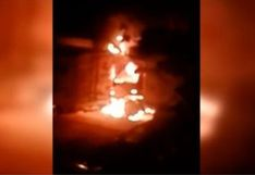Callao: auto se incendió en una cochera ubicada al lado de comisaría