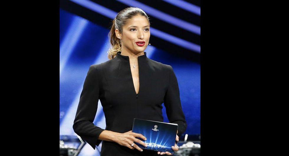 Melanie Winiger: bella presentadora del sorteo de la Champions - 8