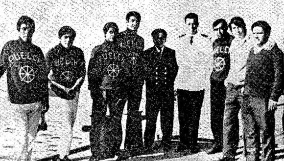 Esta es una de las primeras imágenes que llegó, a nuestra redacción, de la tripulación del Puelche. Foto: GEC Archivo