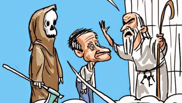 La caricatura que relaciona a Arjen Robben con Robin Williams