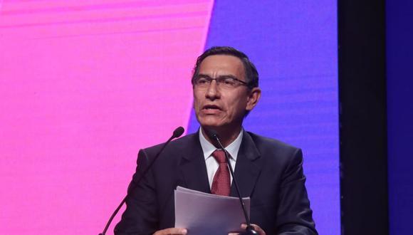 Presidente Vizcarra participó en el segundo día de la CADE 2019. (Foto: Presidencia)