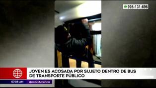 Presunto acosador escapa por ventana de bus tras ser confrontado por víctima